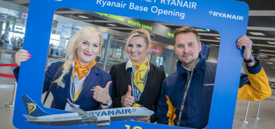 Neue Operationsbasis von Ryanair in Katowice Airport