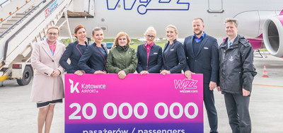 20 million Wizz Air passengers at Katowice Airport
