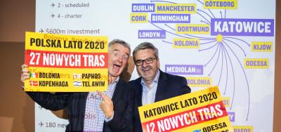 Ryanair rozšiřuje síť spojení na letišti Katowice Airport